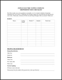 Exway Checklist